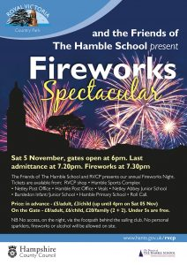 The Hamble School Fireworks Display at Royal Victoria Country Park - Saturday 3rd November 2018 @ The Royal Victoria Country Park | Netley | England | United Kingdom